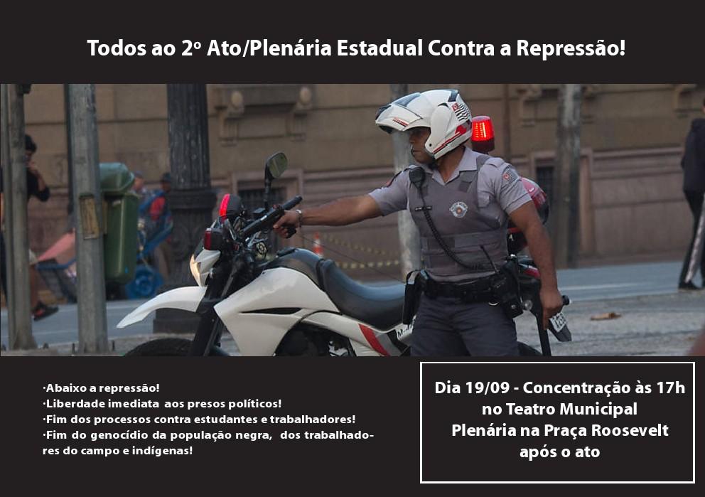 Ato-Plenária Contra a Repressão